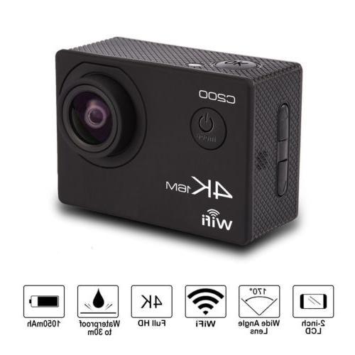 Action camera 4K Sports Ultra HD DV 1080p 60fps + Bundle