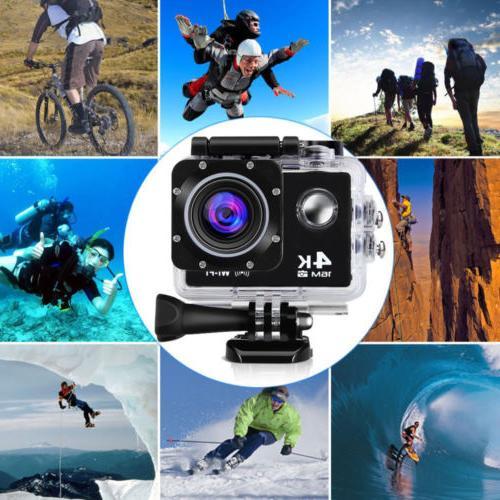 Action camera 4K Sports Ultra HD DV 1080p Bundle