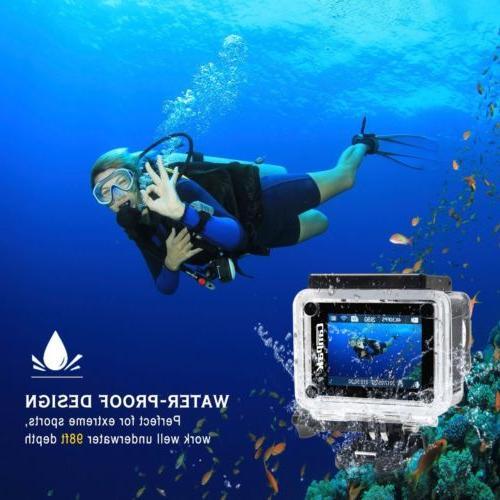 Campark Camera WiFi Ultra Cam Waterproof 170° Remote Control
