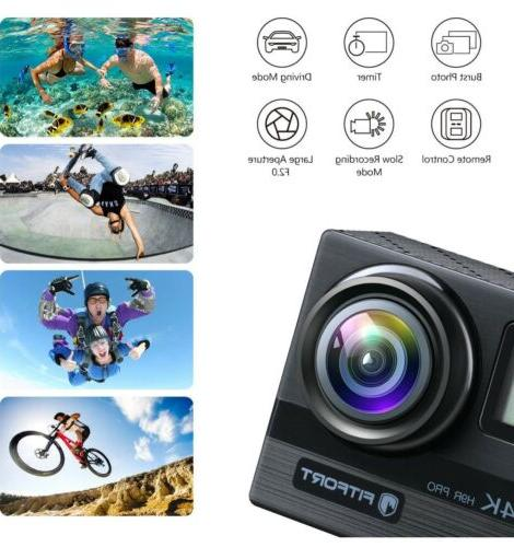 """FITFORT Action Camera Wifi Ultra Sport 16 MP 170° 2"""" LCD"""