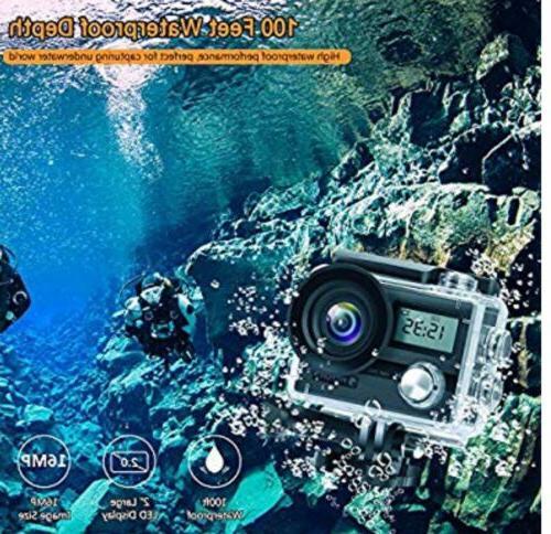 """FITFORT Camera Wifi Waterproof Sport 16 170° 2"""""""