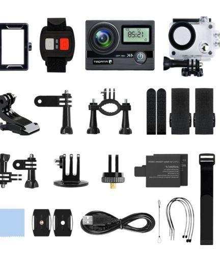 """FITFORT Action Camera 4K Wifi HD Waterproof Sport 2"""" Screen"""