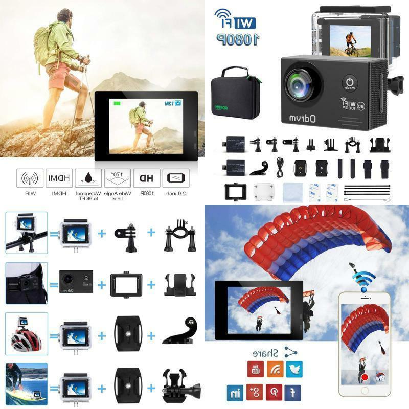 action camera hd 1080p underwater waterproof sports