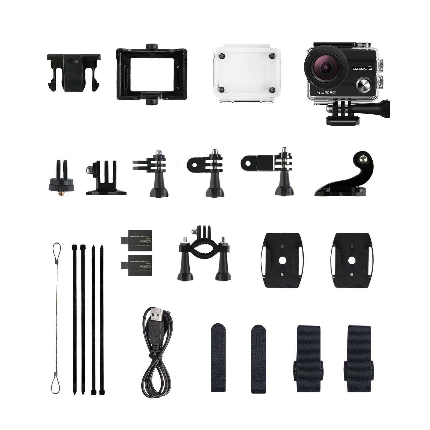 Crosstour Action Cam WiFi HD 12MP Waterproof 2