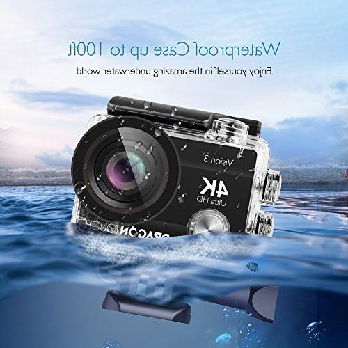 Camera 16MP 3 Underwater Wide Cam Batteries and Accessories Kit