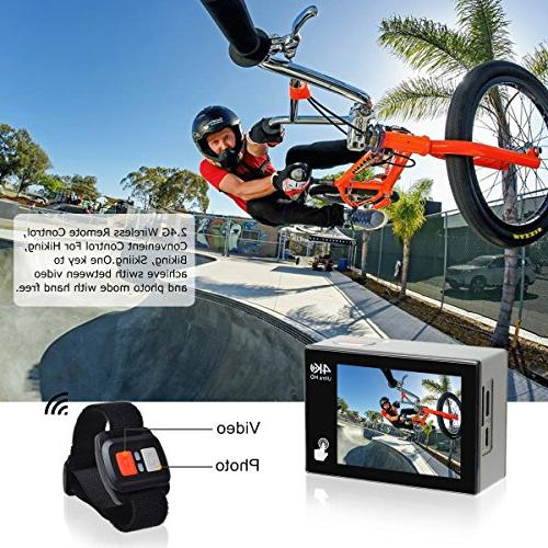 Campark Camera X20 4K Waterproof Video Cam Sony Sensor Camcorder EIS, Screen, Control