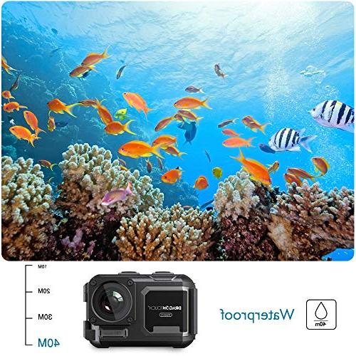 Dragon 4K Camera 131ft Waterproof Camera Without 5 Adjustable View Angle WiFi Sports Remote and Accessories