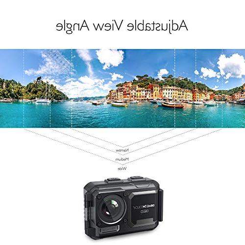 Dragon Touch 4K Action Camera 16MP Camera 5 Adjustable WiFi Sports Camera Remote Control and Accessories Kit