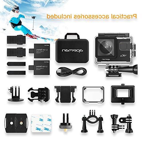 APEMAN Action Camera 20MP Underwater Waterproof Camcorder Degree EIS Advanced Upgraded Bag 24 Accessories