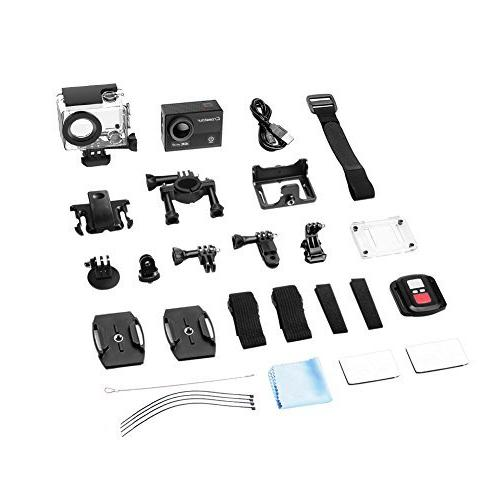Crosstour Camera WiFi Cam Sports Camera Control 170°Wide-Angle LCD 2 1050mAh Batteries and Accessories Kit