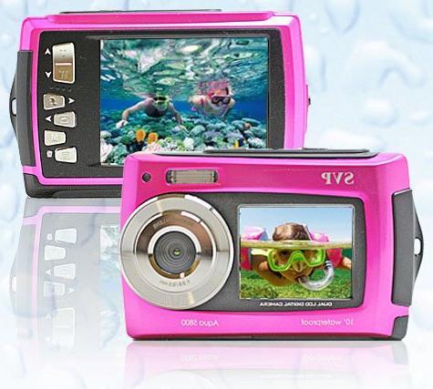 SVP 5800 Orange Waterproof Digital Camera