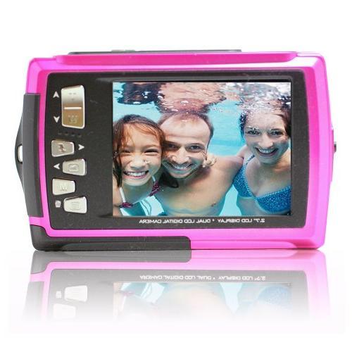 SVP Orange 18 MP Dual Waterproof Digital Camera
