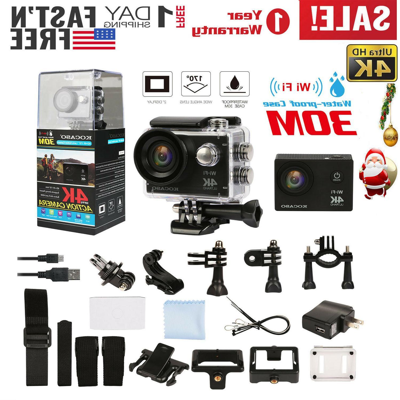 🔥AS HD 1080P WiFi Waterproof Sport Camera