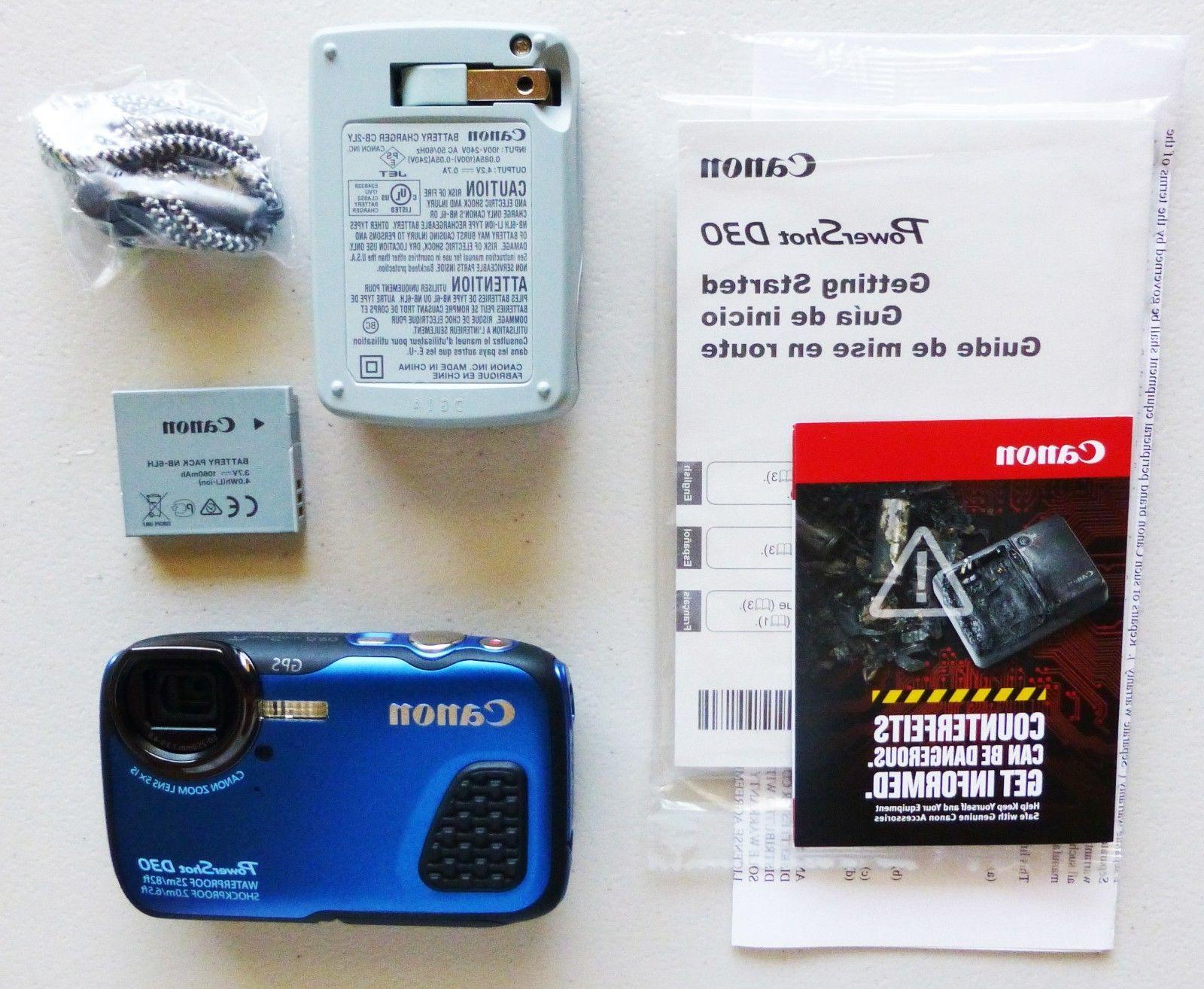 Brand Canon PowerShot D30 to 82ft RARE