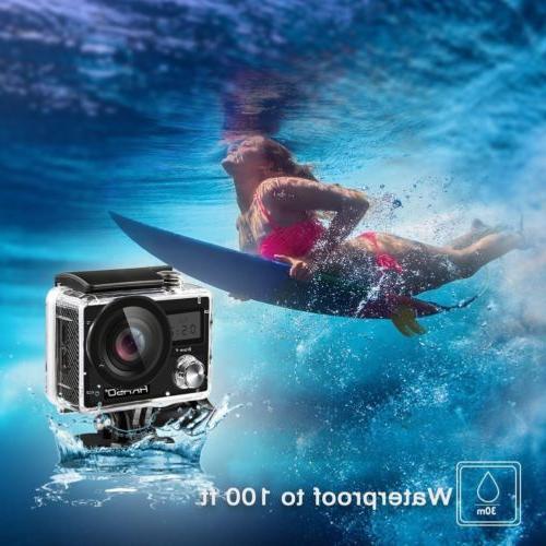 AKASO Brave 4 Waterproof Action Camera Sony Sensor 4K 20MP W