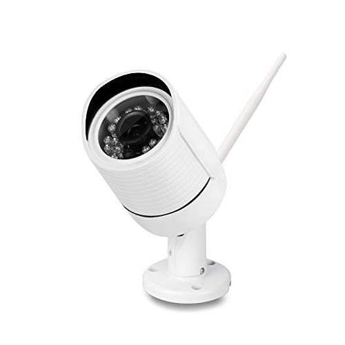 Ouvis C2 Waterproof WiFi Wireless Security Camera, Free Card, Internet Access,True Night Vision,720P,Email Alerts,Built-in MIC, Apps for iPhone, Android