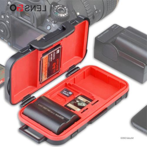 camera battery memory card case battery storage