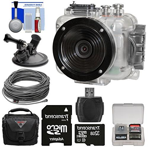 Intova Connex HD Waterproof Video Action with Video Cable 32GB Card + Car Suction Cup Mount Case