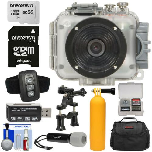 Intova Video Camera Camcorder with Video 32GB Card Suction Cup Mount Case + Kit