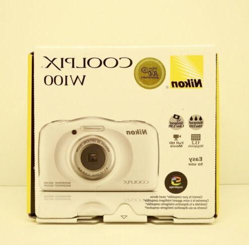 Nikon COOLPIX W100 MP & Shoot Digital Camera,waterproof