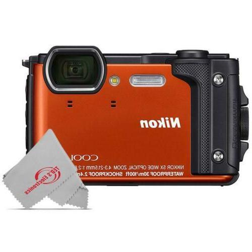 coolpix w300 16mp waterproof digital camera orange