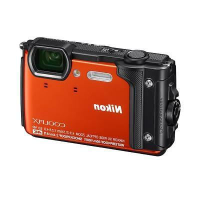coolpix w300 point shoot camera orange 26524