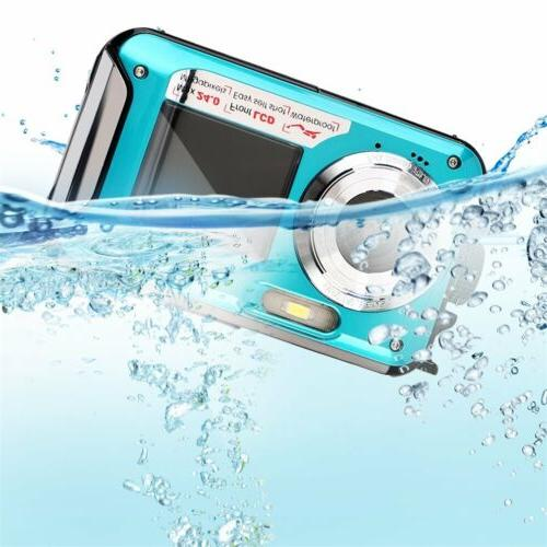double screen 24mp waterproof digital video camera