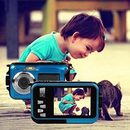 PowerLead Waterproof Digital 2.7-Inch Front LCD Camera Easy Shot