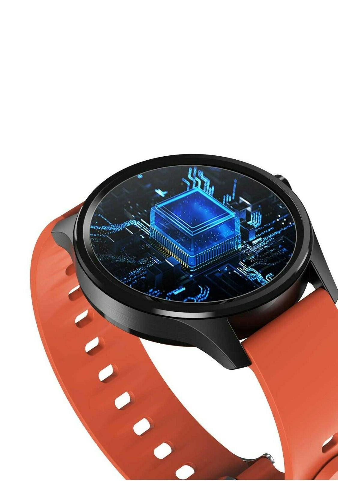 DT55 Smartwatch Red Strap Waterproof Tracker By