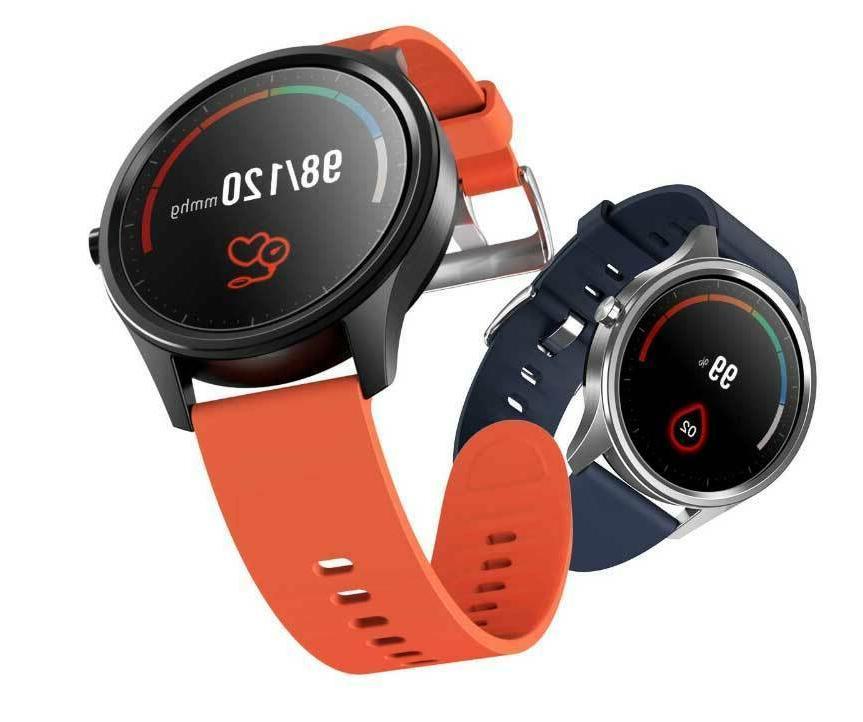 DT55 Smartwatch Red Strap Fitness Tracker