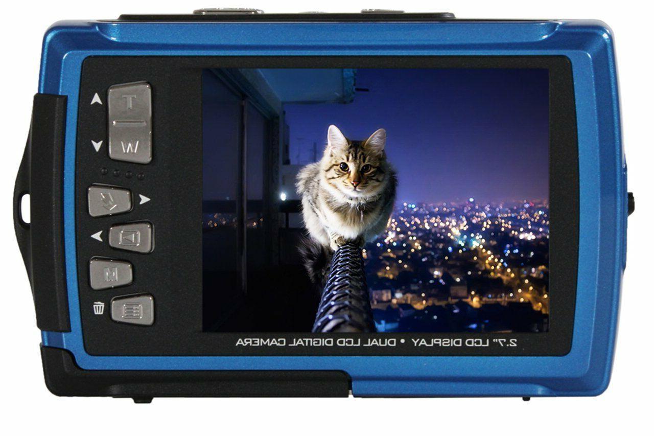 dual screen waterproof digital camera 14 mp