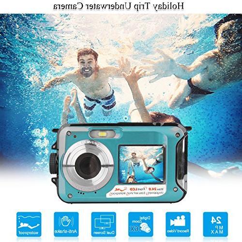 dual waterproof underwater action mini