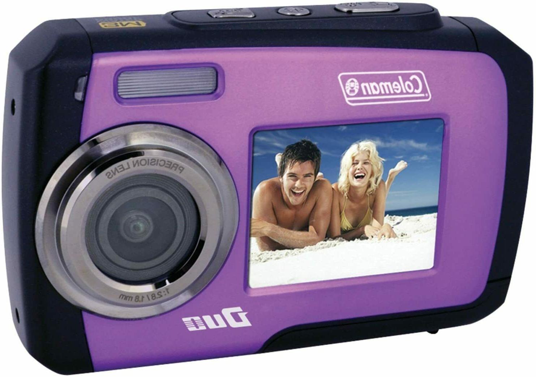 duo 14 mp purple waterproof digital camera