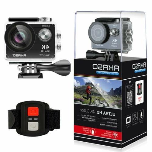 AKASO EK7000 Ultra HD 4K Sports Action WIFI DV Camcorder Waterproof