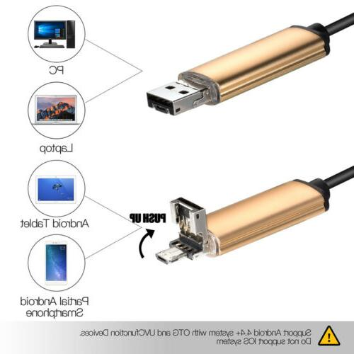 Endoscope Waterproof Tube 6LED Micro USB Android