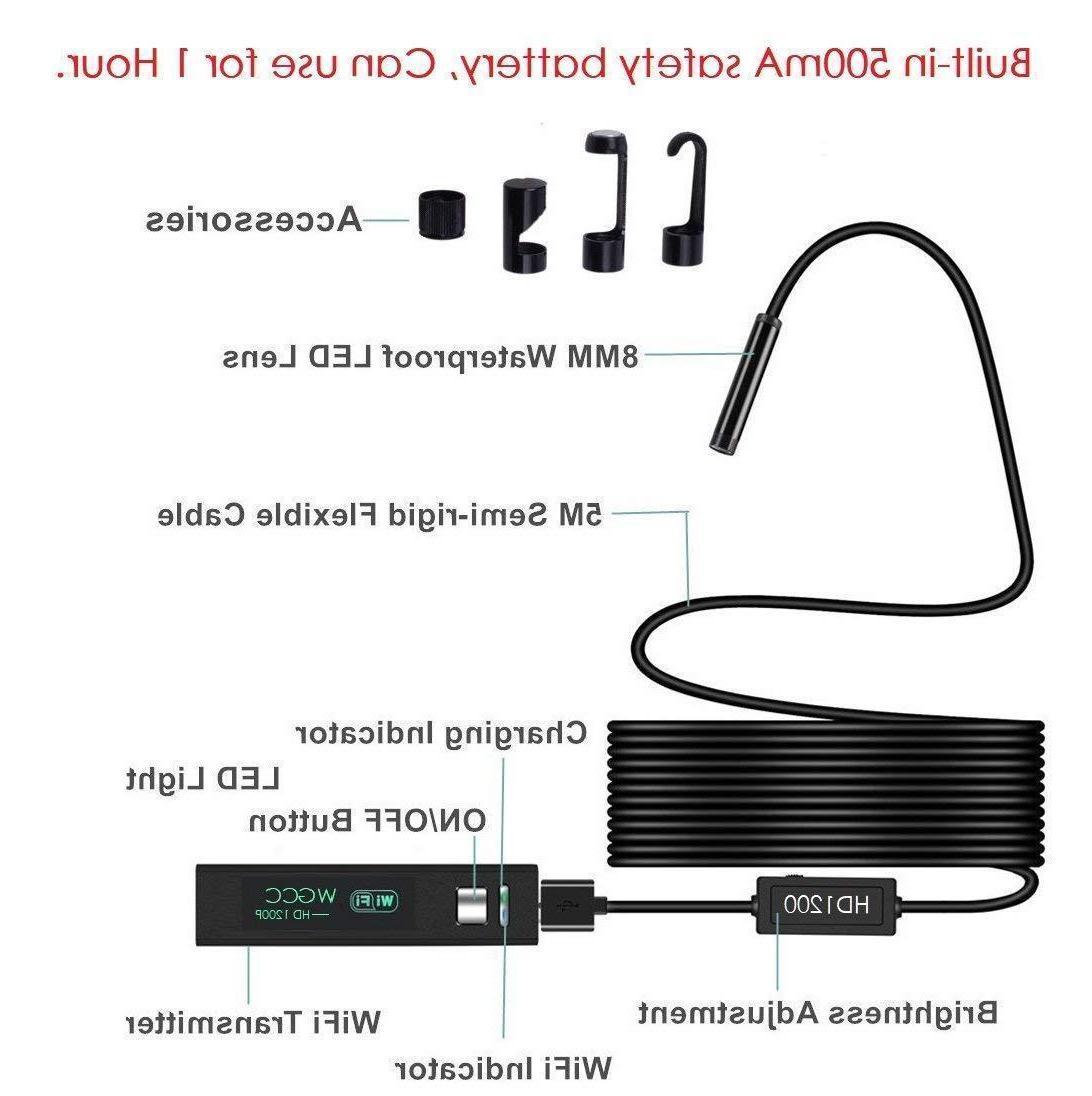 Endoscope WiFi Camera 1080P Waterproof SOTRE