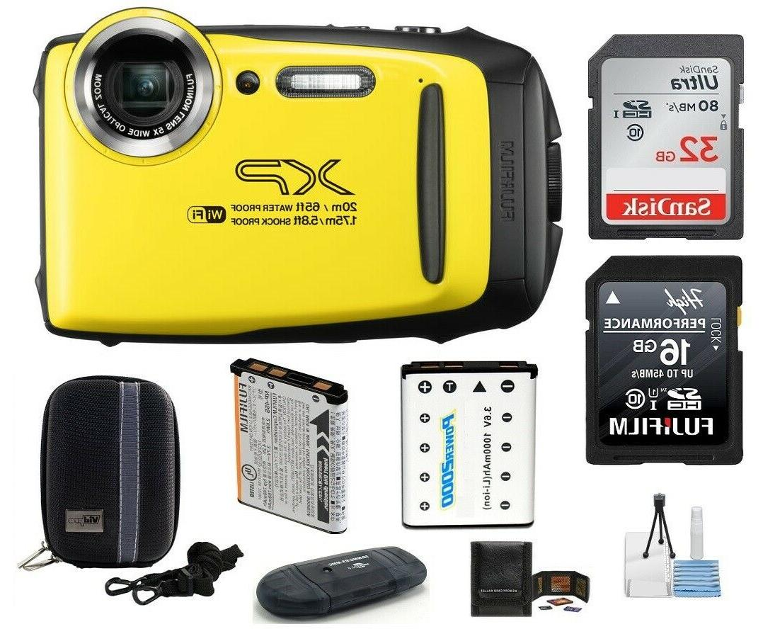 finepix xp130 digital camera yellow 7 piece