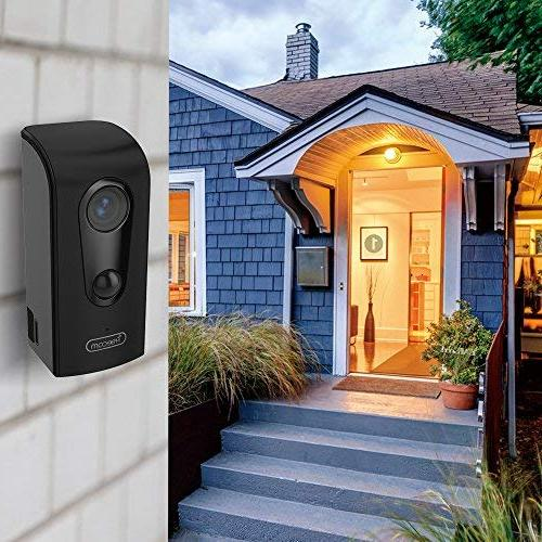 FREECAM WiFi Camera Weather-Proof Home Camera with Night Vision Alert Push,C380 Black
