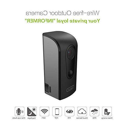 FREECAM Outdoor Camera Motion-Activated Weather-Proof Home Security Night Vision and Alert