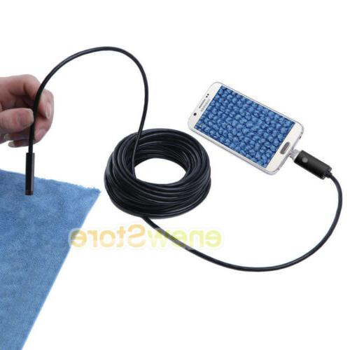 Gold LED Endoscope USB Waterproof Borescope