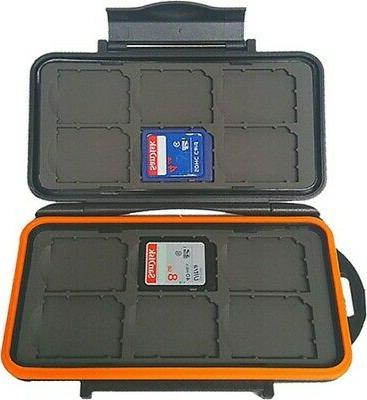 Hard Storage Protective Case 12 Slots SD Memory Cards Trail