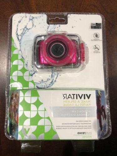hd action waterproof camera camcorder hot pink