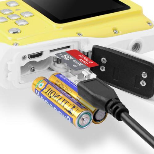 HD Digital Waterproof Underwater Camera LED Dispaly Kids