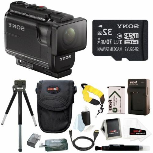 Sony HDR-AS50/B Full HD 1080p Action Cam with 32GB MicroSD C