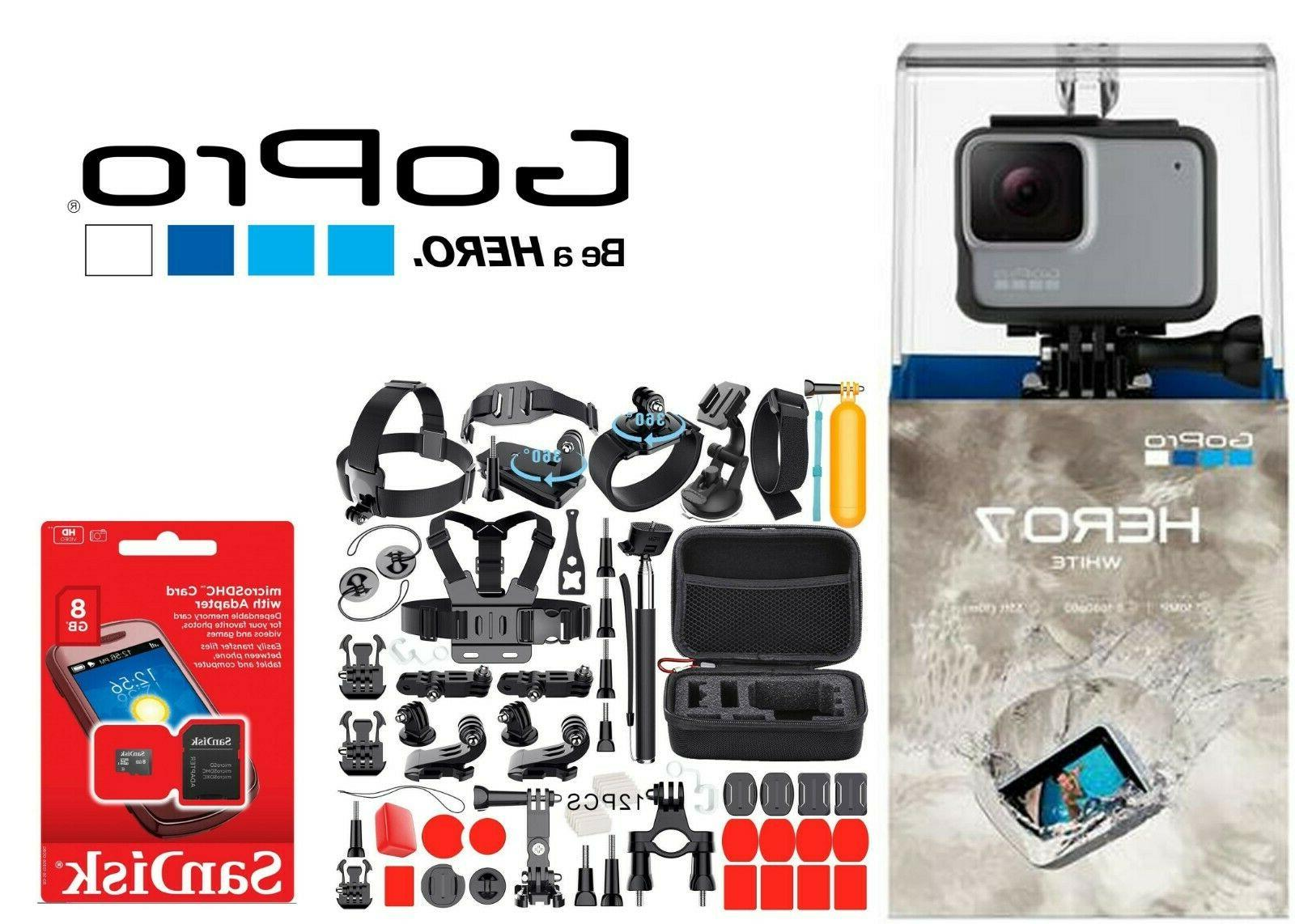 hero7 white waterproof action camera touch screen