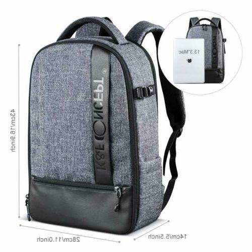 Large Camera Bag Laptop Nikon K&F Concept