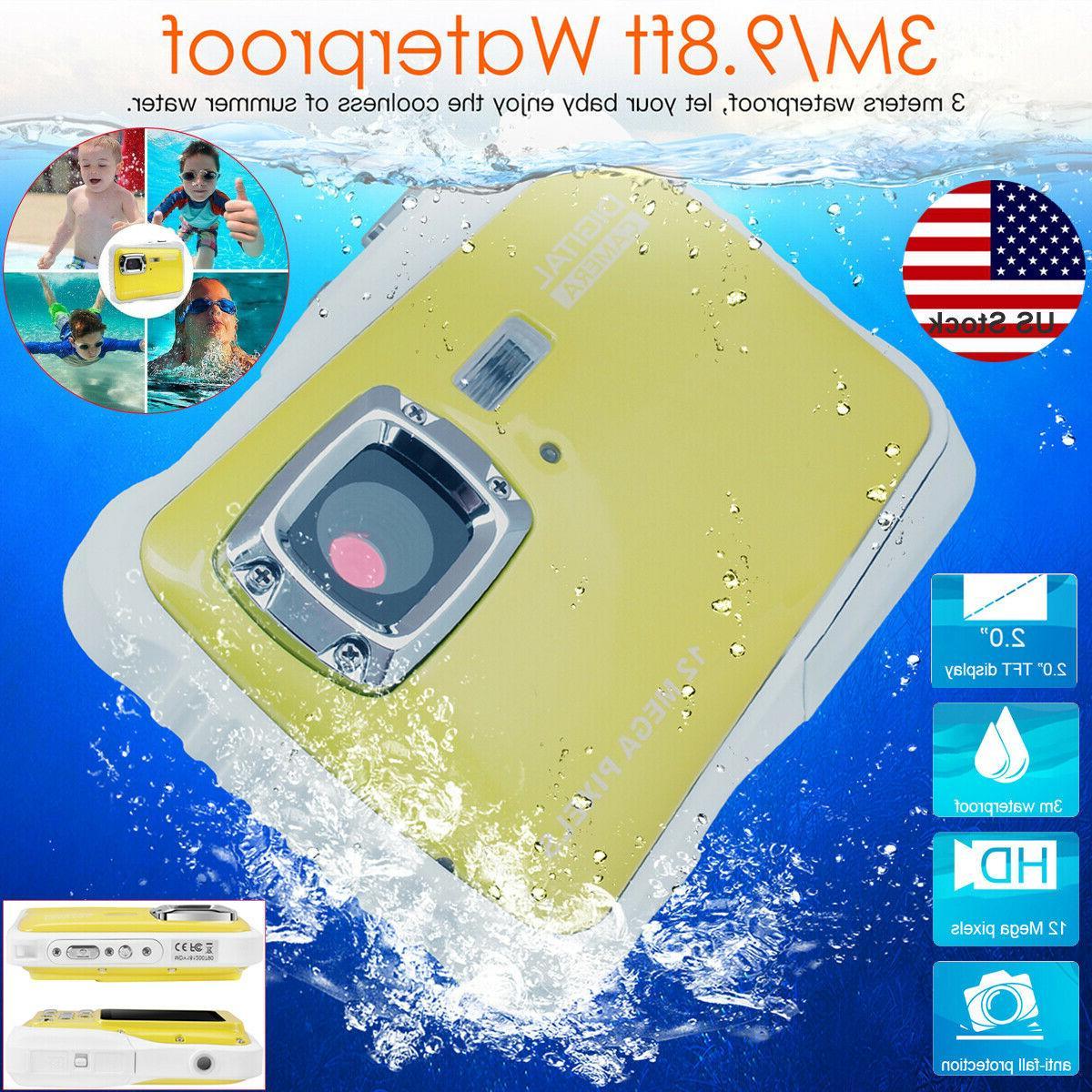kids waterproof digital camera 12mp hd video