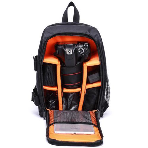 Large Backpack Shoulder Bag Waterproof DSLR Padded Canon