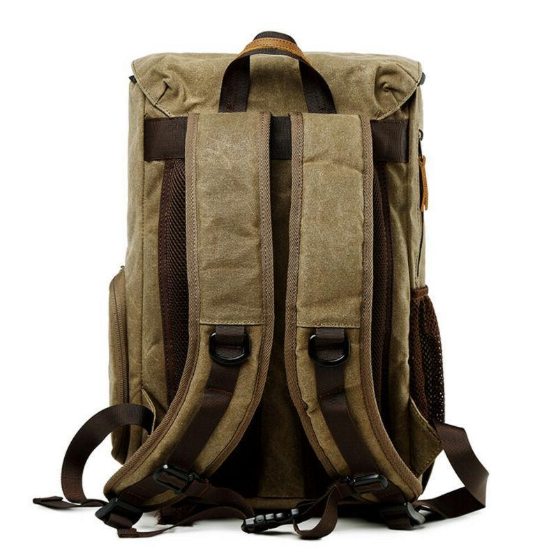 Vintage Backpack Waterproof Canvas Bag Large AA