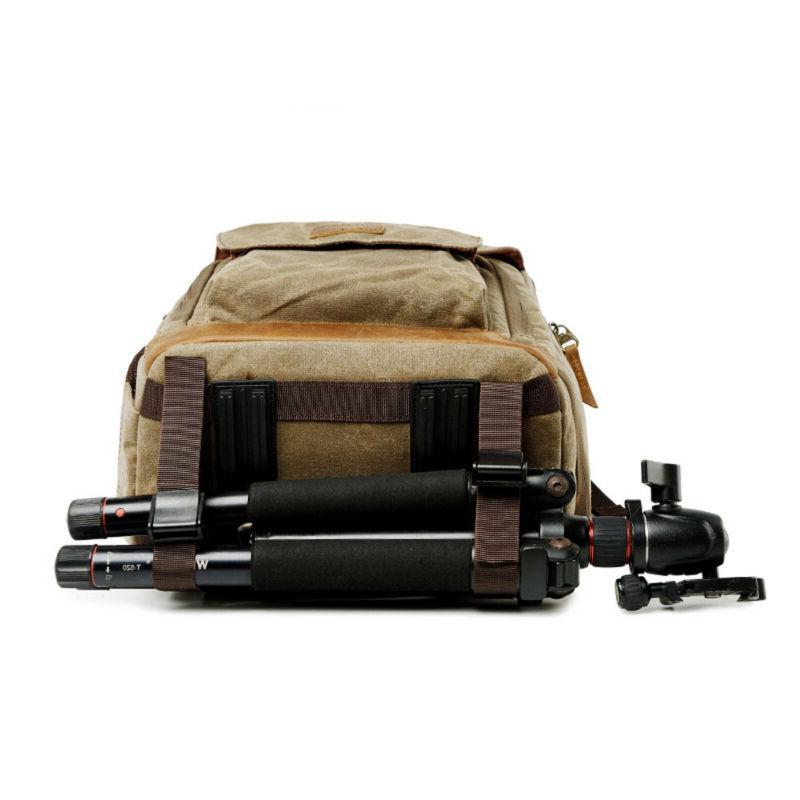 Large Camera Bag Photography Backpack Vintage Canvas K
